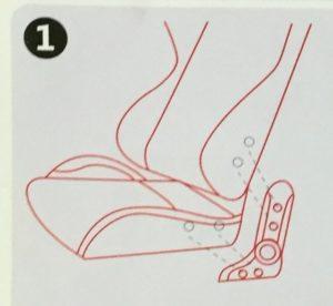 ①背もたれと座部を繋げる